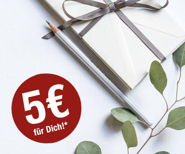 Jetzt zum Newsletter anmelden & 5€ Gutschein bekommen!