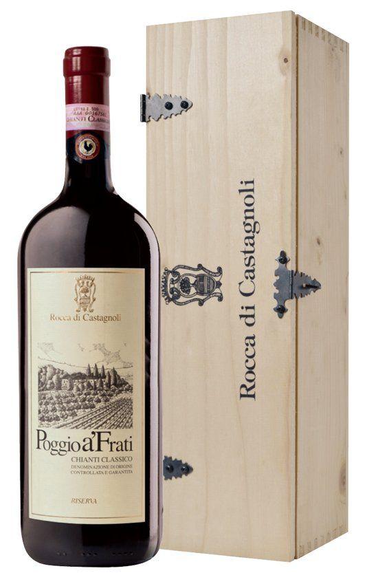 Rocca di Castagnoli Chianti Classico Riserva Poggio A'Frati 2004 1,5 l in Holzkiste
