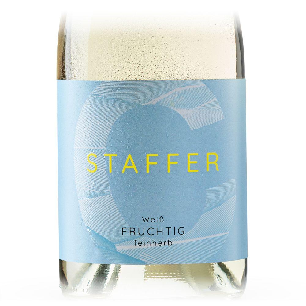 STAFFER Weiß fruchtig feinherb 2020 0,75l