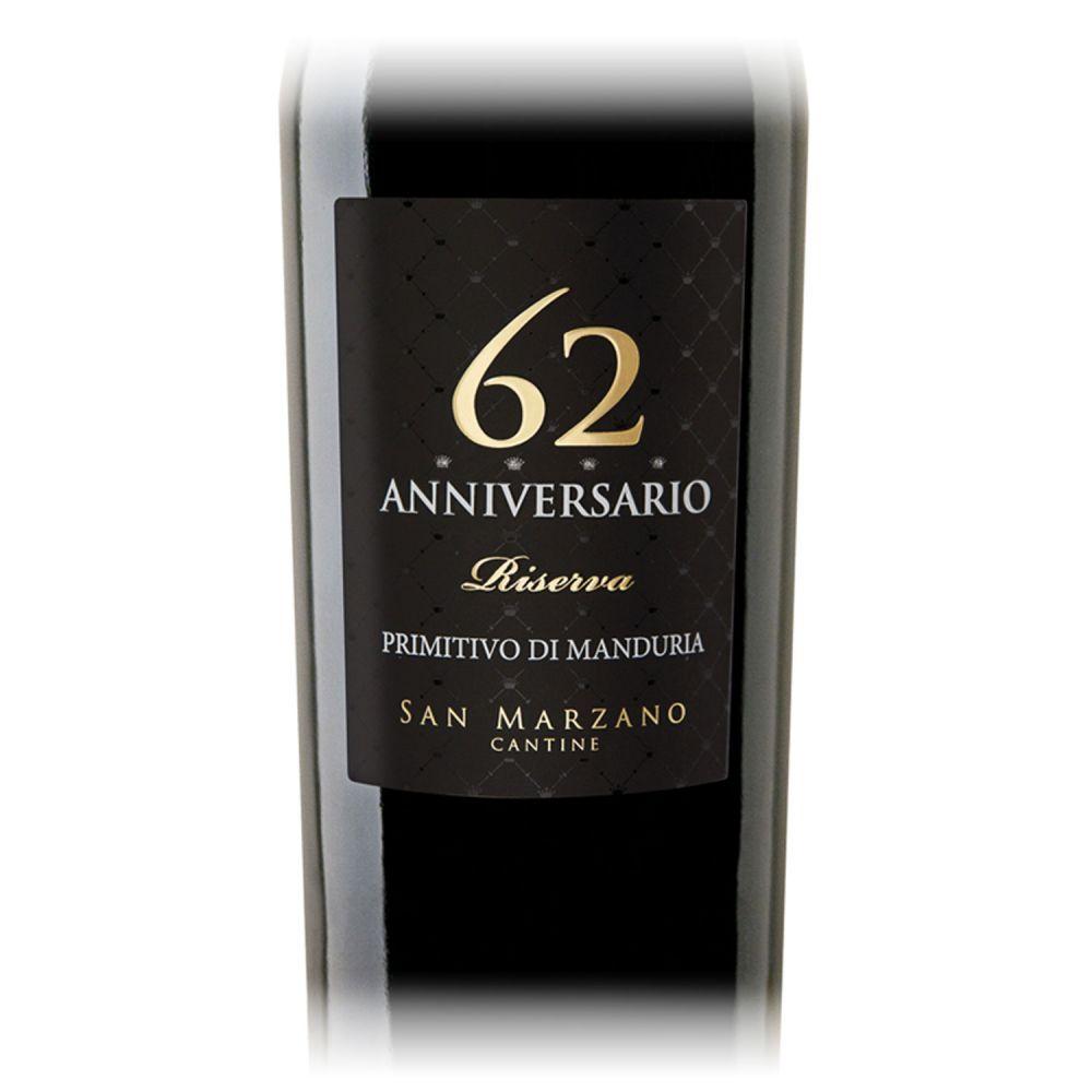 Anniversario 62 Primitivo di Manduria San Marzano 2014