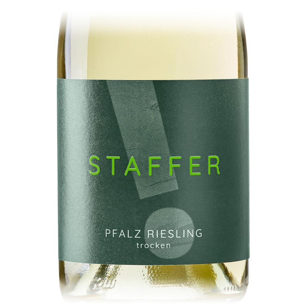STAFFER Weiß Pfalz Riesling trocken 0,75l