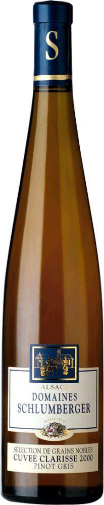 Schlumberger Pinot Gris Cuvée Clarisse Sélection Grains Nobles 2012