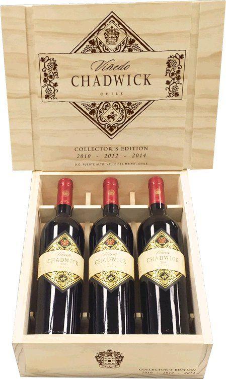 Errazuriz Kollektion Viñedo Chadwick 3 Fl. In Holzkiste