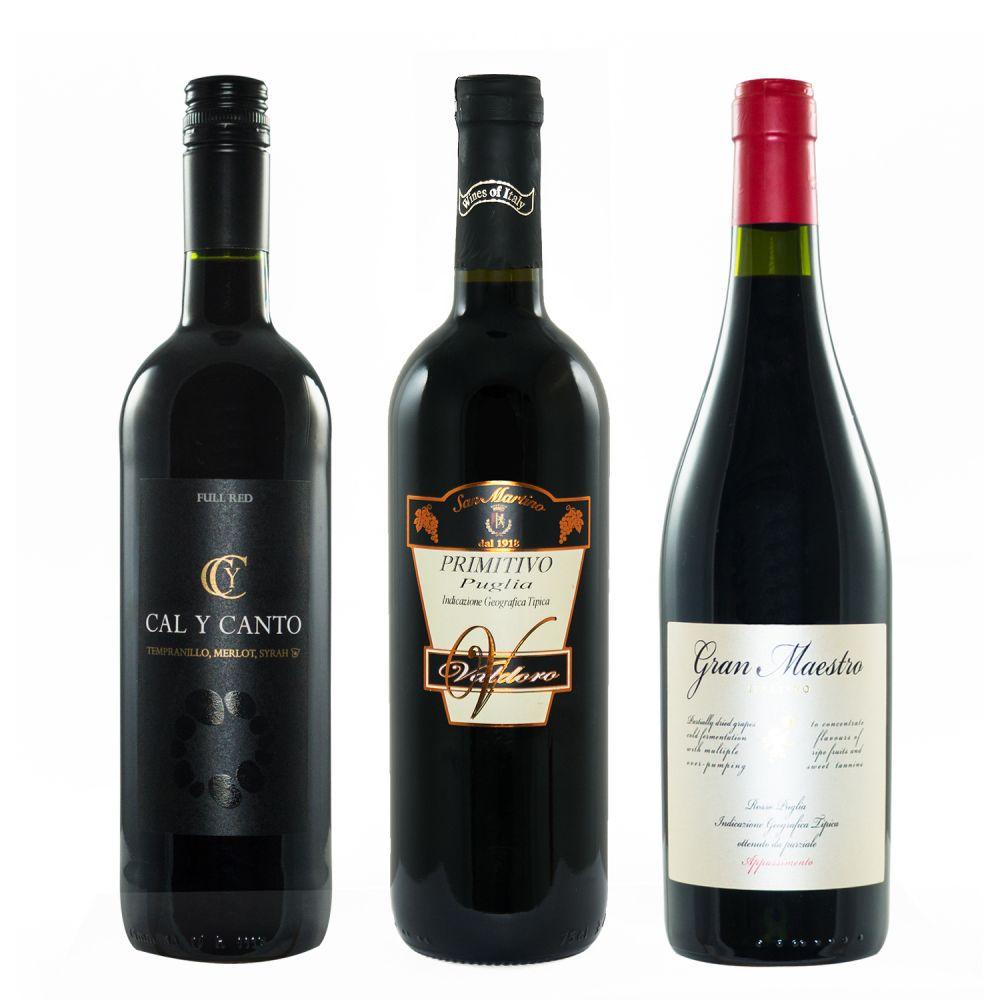 Rotwein Top 3 Paket