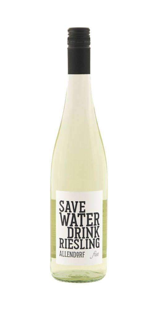 Allendorf Save WATER drink RIESLING free